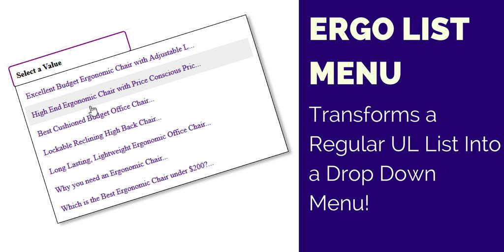 Dynamic Drive DHTML Scripts- Ergo Drop Down Menu Control