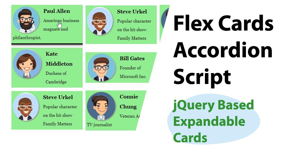 Dynamic Drive DHTML Scripts-Flex Cards Accordion Script
